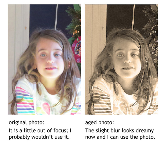 A before and after aged photo