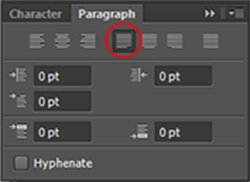 Fine tuning justified text in photoshop justification works by adjusting the spaces between the words in each line to make all the lines the same length when your paragraphs are wide ccuart Gallery