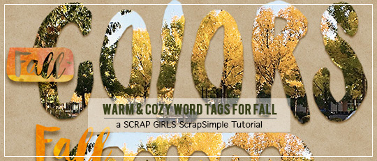 Warm & Cozy Word Tags for Fall - Intro banner