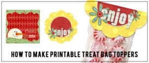 How to make a printable treat bag topper