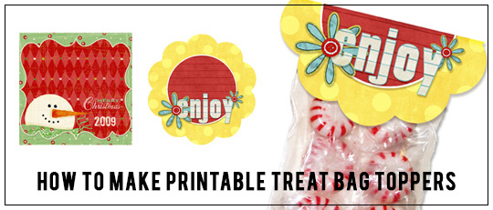 Tutorial: How to Make Printable Treat Bag Toppers