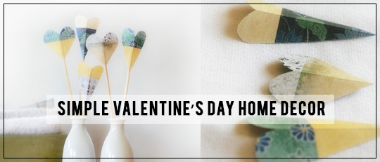 Simple Valentine's Day Home Decor