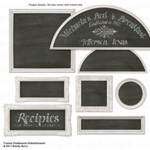 Framed Chalkboard Embellishments