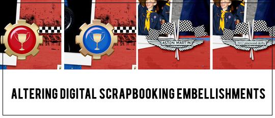 Altering Digital Scrapbooking Embellishments