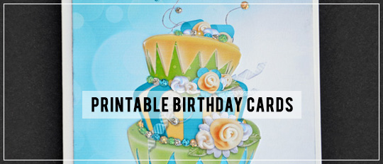 Printable Birthday Cards Tutorial