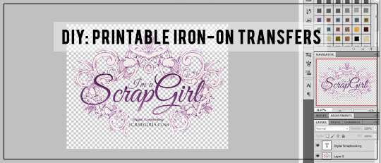 DIY: Printable Iron-On Transfers
