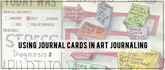 Using Journal Cards in Art Journaling Tutorial