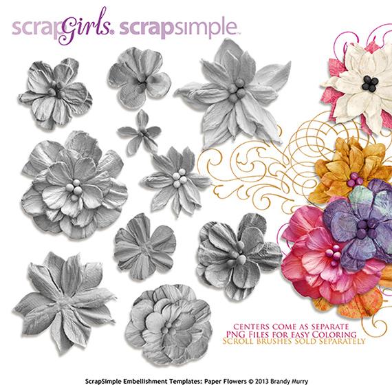 scrapsimple club digital scrapbooking embellishments