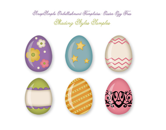 Easter shading styles samples