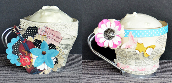 altered teacups using printables