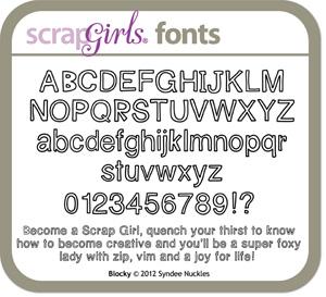 Blocky Font