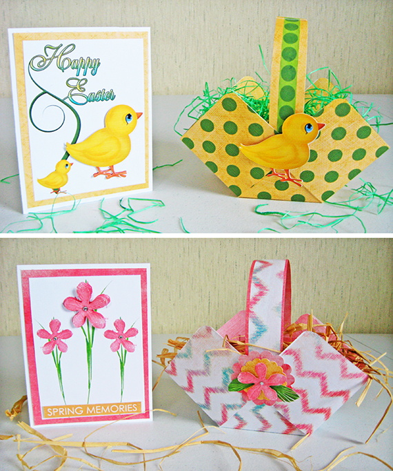 printable easter basket card set