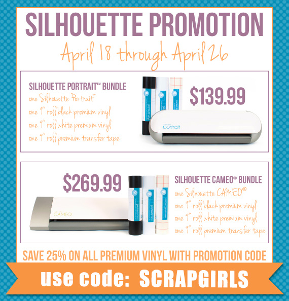 April Silhouette promotion
