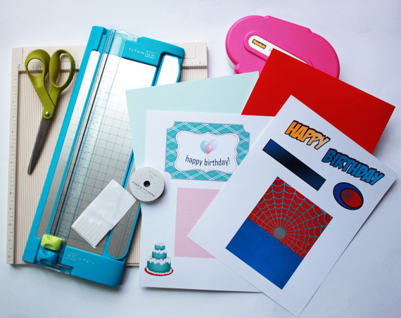 gather supplies and printables