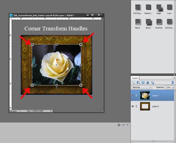 add photo to digital scrapbooking frame