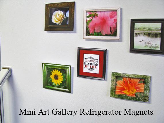 mini art gallery fridge magnets