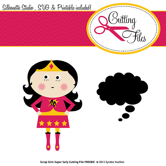 super sally cutting file freebie
