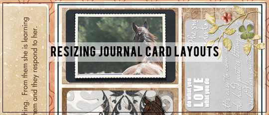 Resizing Journal Card Layouts