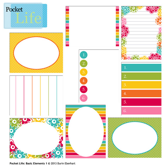 Pocket Life Basic Elements journal cards