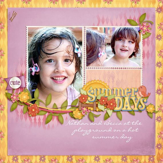 digital scrapbooking layout for mayfair