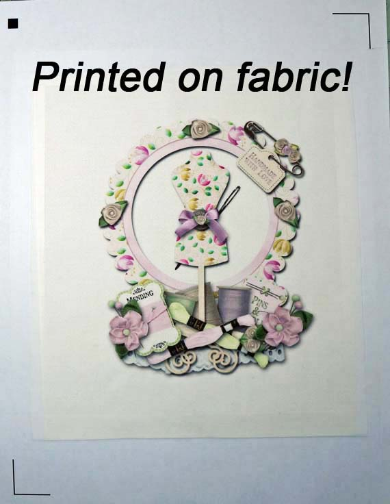 silhouette fabric  print marks