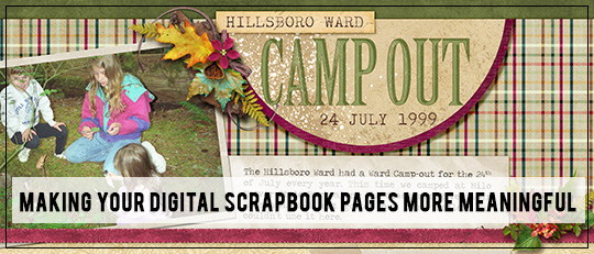 Making Your Digital Scrapbooking Pages More Meaningful