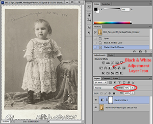 adjusting photo in photoshop