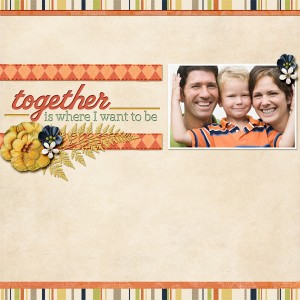cut out digital scrapbooking layout