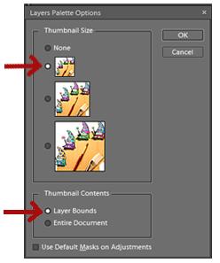 select thumbnail size