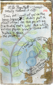collage art journal page finished