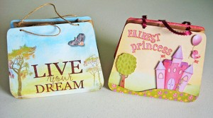 Completed DIY gift bags