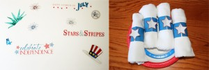 july 4th decals and napkin rings