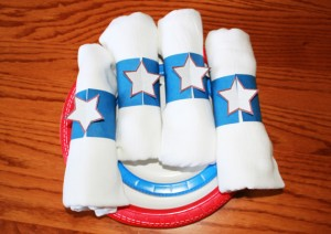 completed july 4th napkin rigs