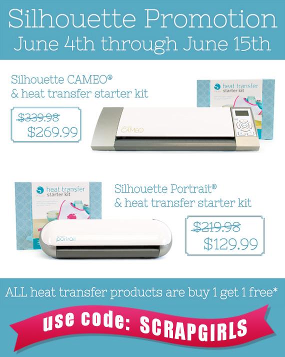 silhouette heat transfer promotion