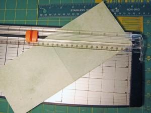 crisscross card cut diagonally