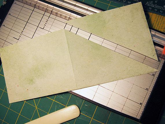 crisscross card cut