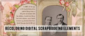 Recoloring Digital Scrapbook Elements