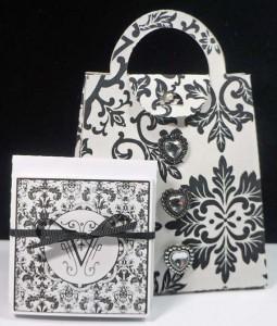 printable monogram cards fabric purse