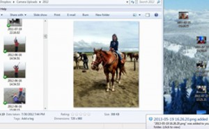share photos across devices with dropbox