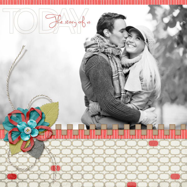 digital scrapbooking layout sketch tuesday