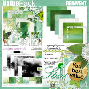 Reinvent Digital Scrapbooking Kit
