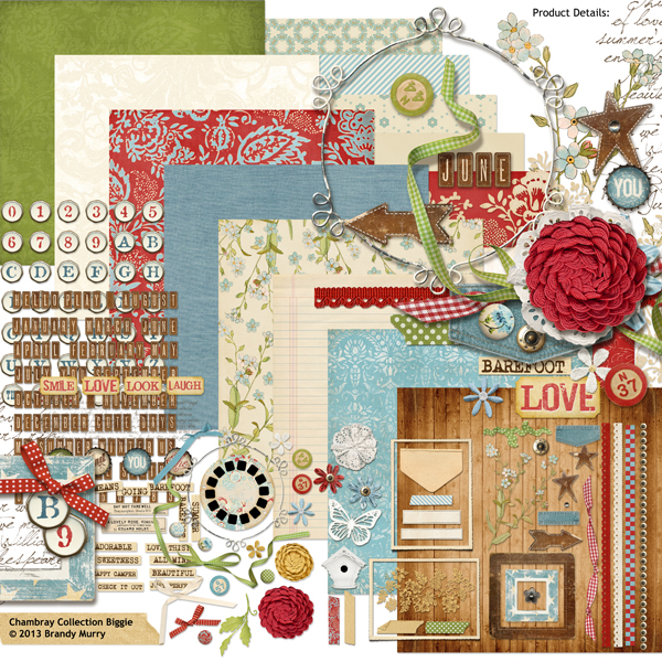 Chambray Collection digital kit