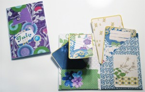 Mini envelope album using journal cards
