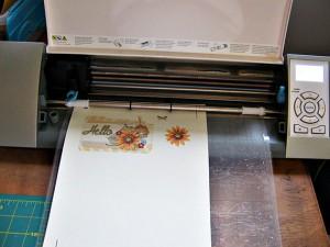 adhere printable to cutting matte