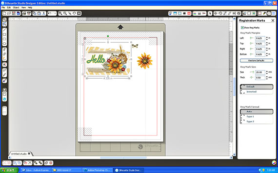 arrange elements on printable