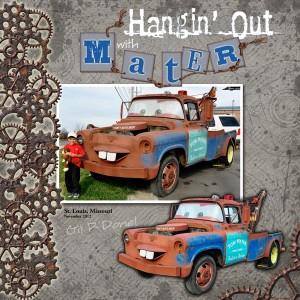 custom title digital scrapbook layout