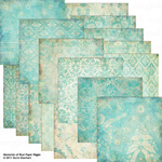 memories of blue digital paper