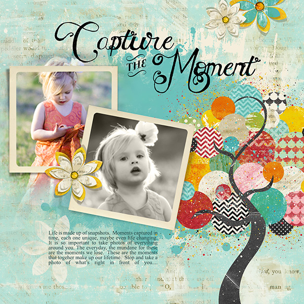 altered life digital scrapbook layout