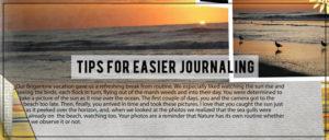 Tips for Easier Journaling
