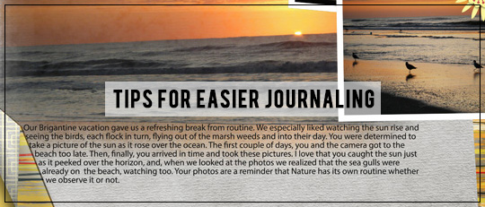 Tips for Easier Journaling